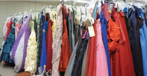 The collection of prom day attire at Miriam's Closet.