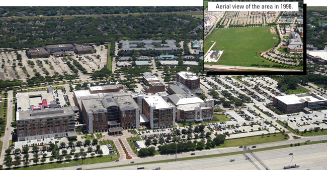 Aerial view of the Houston Methodist  Sugar Land Hospital in 2016.